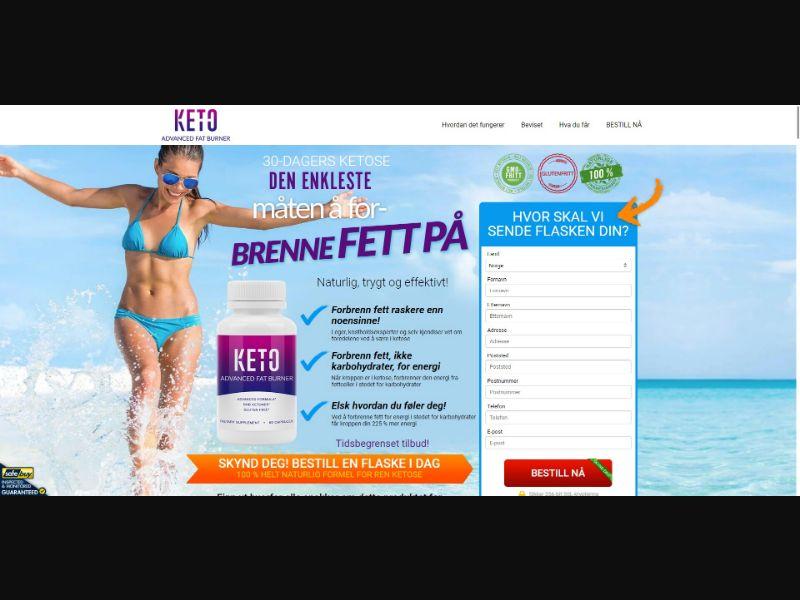 Keto Advanced Fat Burner - V1 - Diet & Weight Loss - SS - [NO]