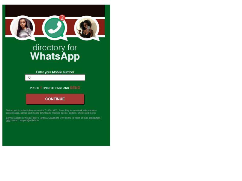 Directory for Whatsapp Safaricom