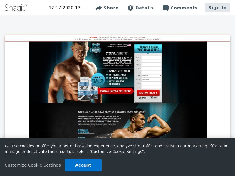Eternal Nutrition Muscle w/ Upsell | USA [Exclusive]