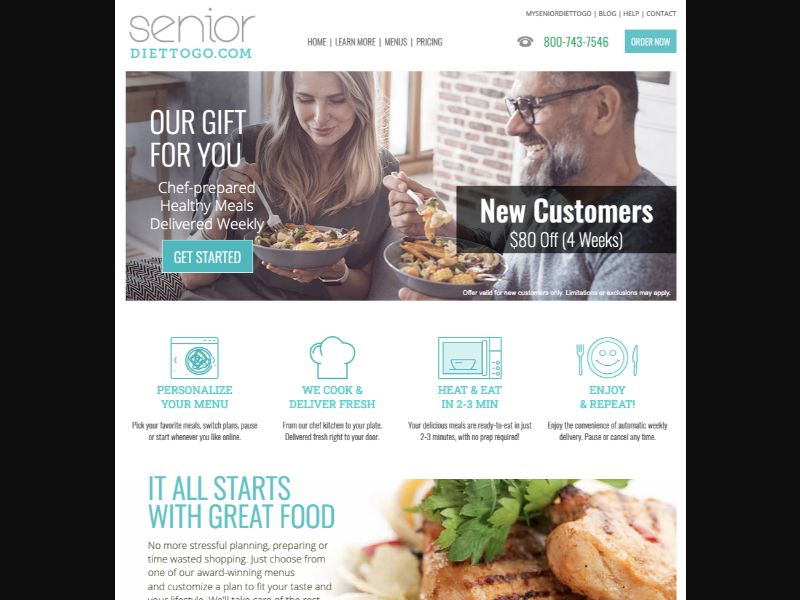 Senior Diet-To-Go - CC Submit - US - Meal-Kit - Responsive