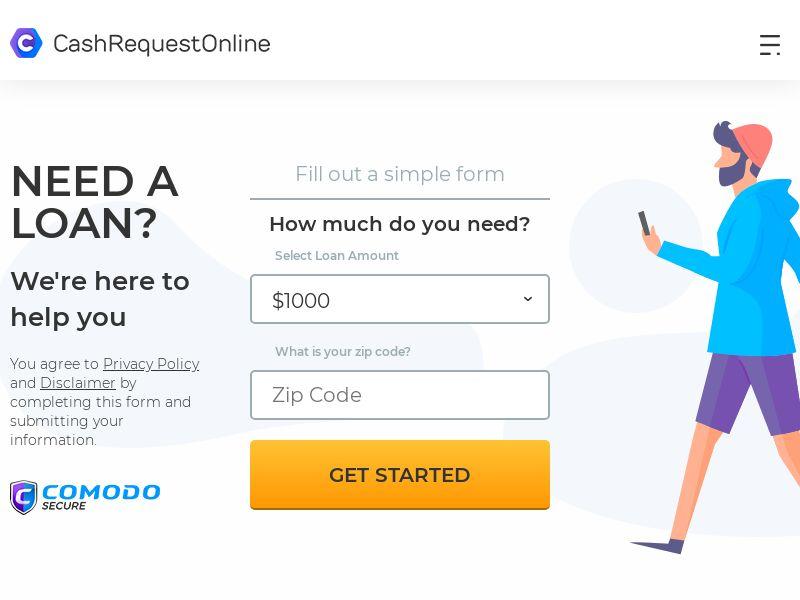 CashRequestOnline.com (US) (Revshare) (SMS Allowed)
