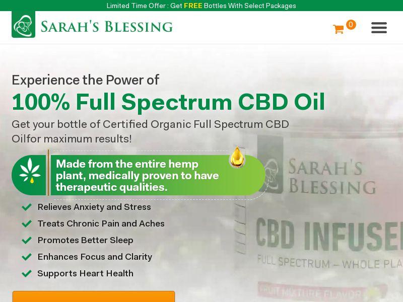 Sarah's Blessing CBD Oil (PPS) - Health/CBD - UK