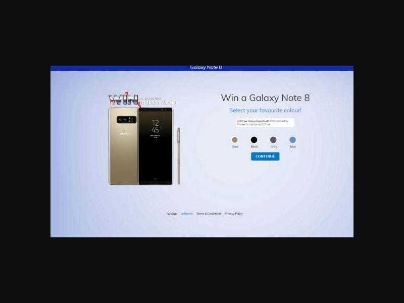Win a Galaxy Note 8 - AU