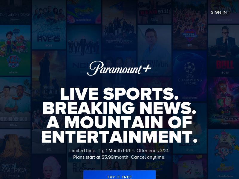 PARAMOUNT + (CBS All Access USA)