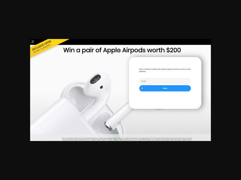 YOUSWEEPS - Win a Pair of Apple Airpods (US)