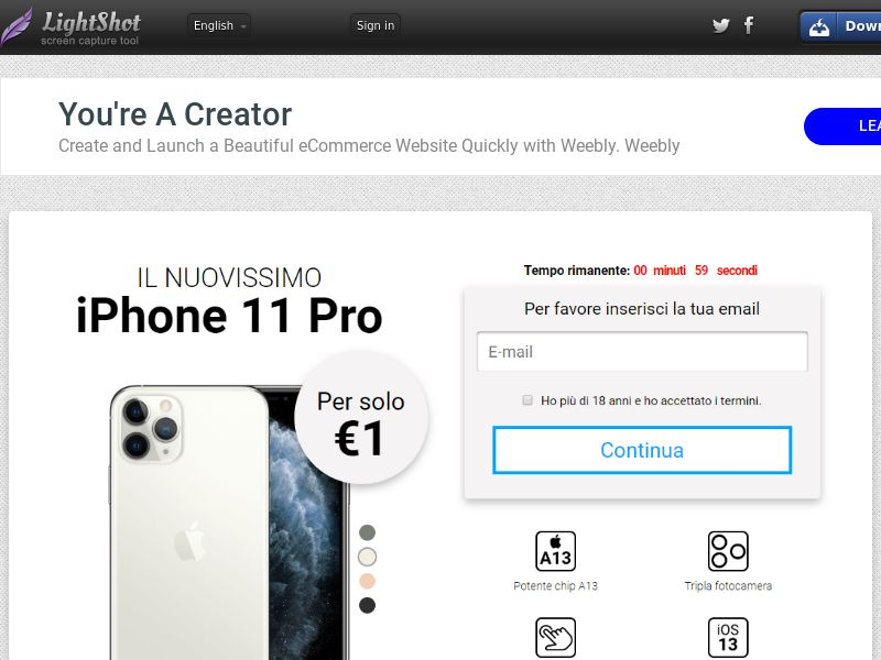 GetRealDeal iPhone 11 pro (Sweepstake) (CC Trial) - Italy [IT]