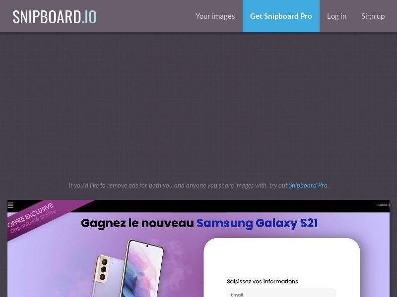 41548 - FR - CONSUMERSCONNECT - Win samsung galaxy s21 - SOI