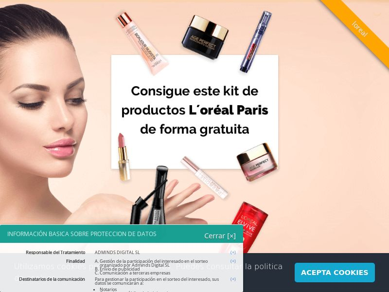 L'Oreal - ES (ES), [CPL], Health and Beauty, Cosmetics, Lotteries and Contests, Single Opt-In, coronavirus, corona, virus, keto, diet, weight, fitness, face mask, paypal, survey, gift, gift card, free, amazon