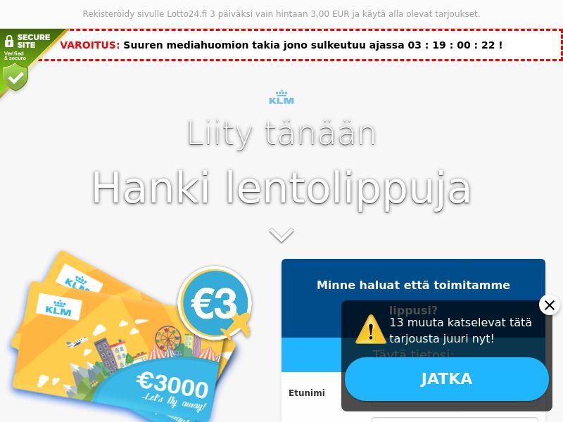 KLM - Plane tickets - FI