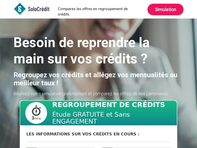 Solo Crédit [FR] (Email Only) - CPL {Email Proof Required}