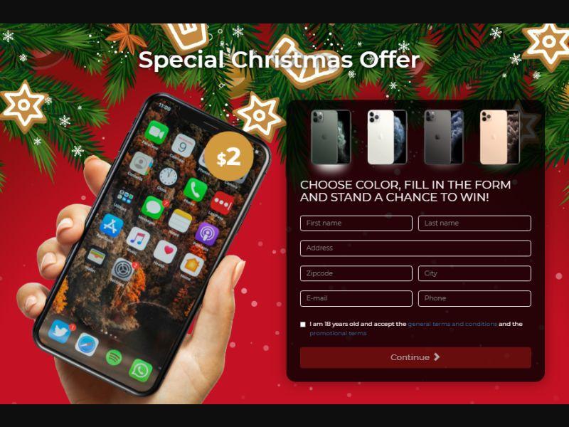 Christmas iPhone 11 Pro International [SG] - CC Submit