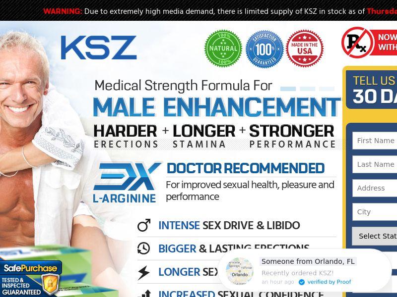 KSZ Male Enhancement (Trial W/1 Click Upsell) (Survey Allowed) (SMS Allowed)