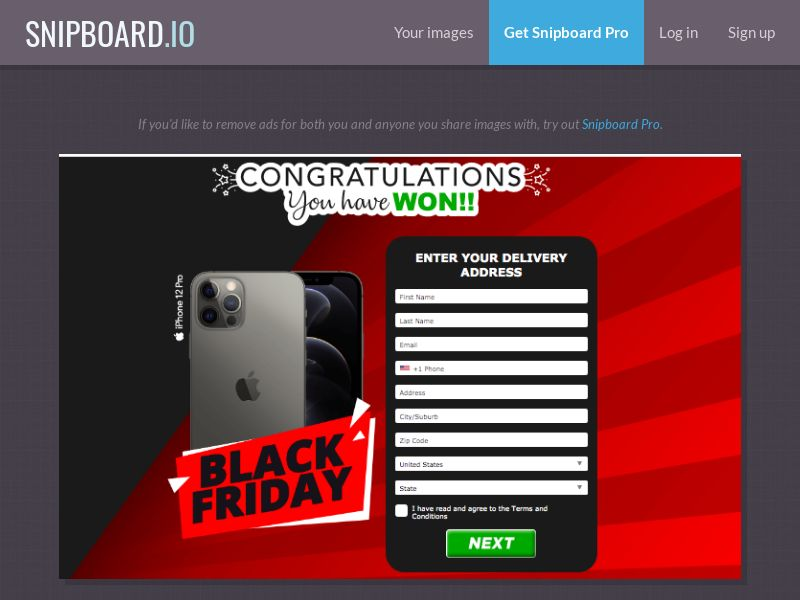 AbsoluteWinner - iPhone 12 Pro (Black Friday Red / Black) US - CC Submit