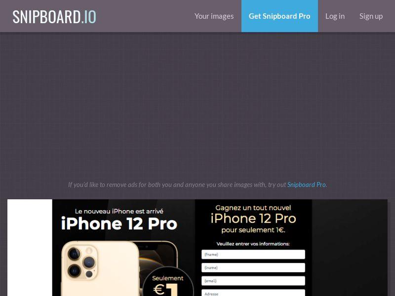 MyeBooky - iPhone 12 Pro LP62 FR - CC Submit