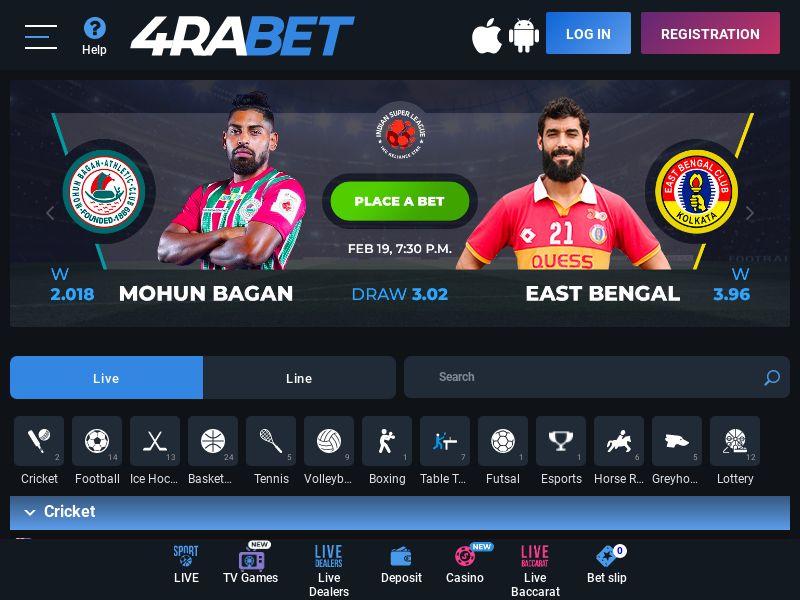 4raBet.com CPA - India