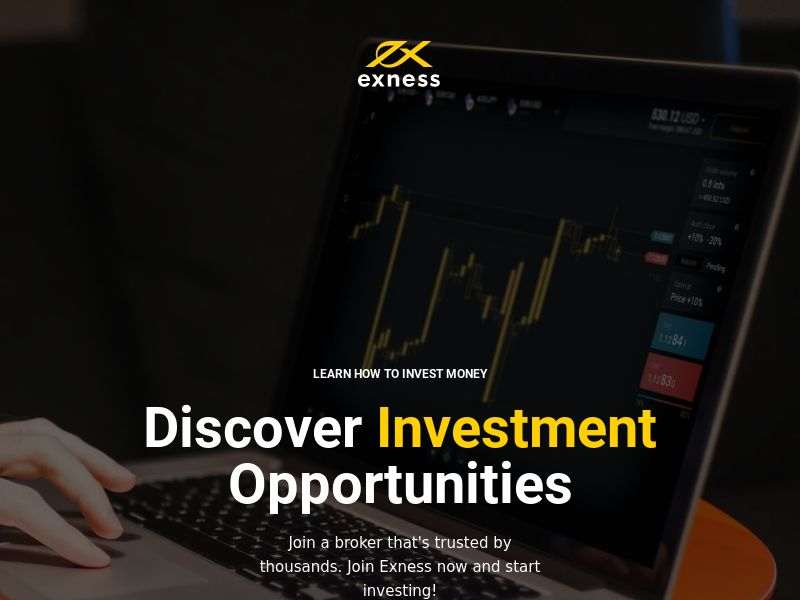 Trade Forex/Crypto/Stocks/Indices with Exness - 24 GEOS - WEB (CPA)