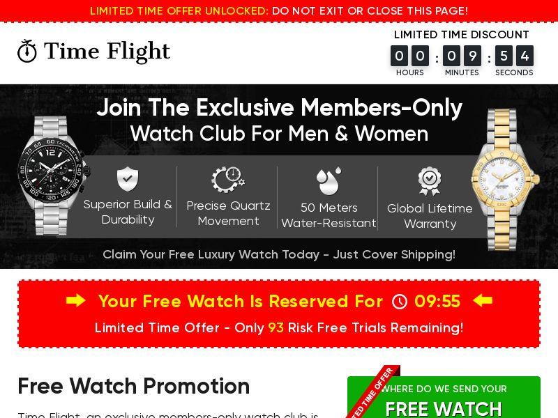 Time Flight Watch Club (Trial) (US) (SURVEY ALLOWED)