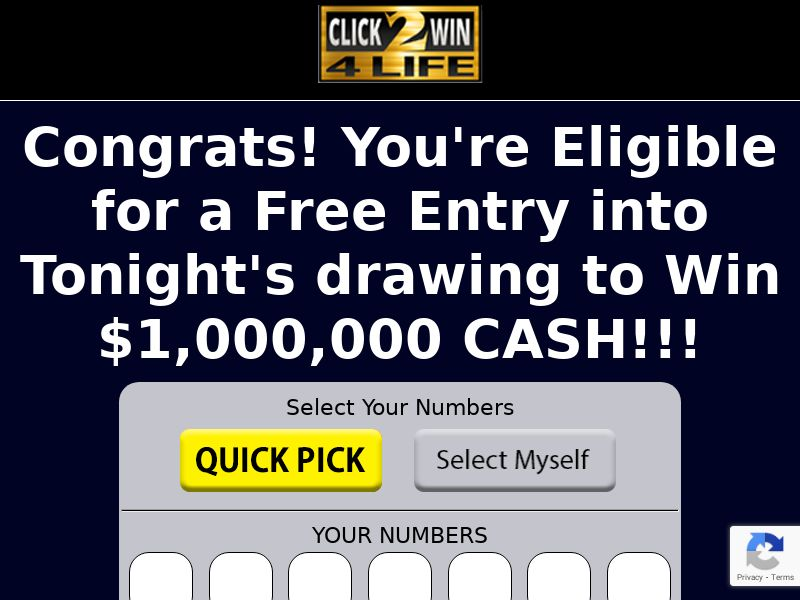 Click 2 Win 4 Life - CPL - US <<*PENDING*PRIVATE OFFER*>>