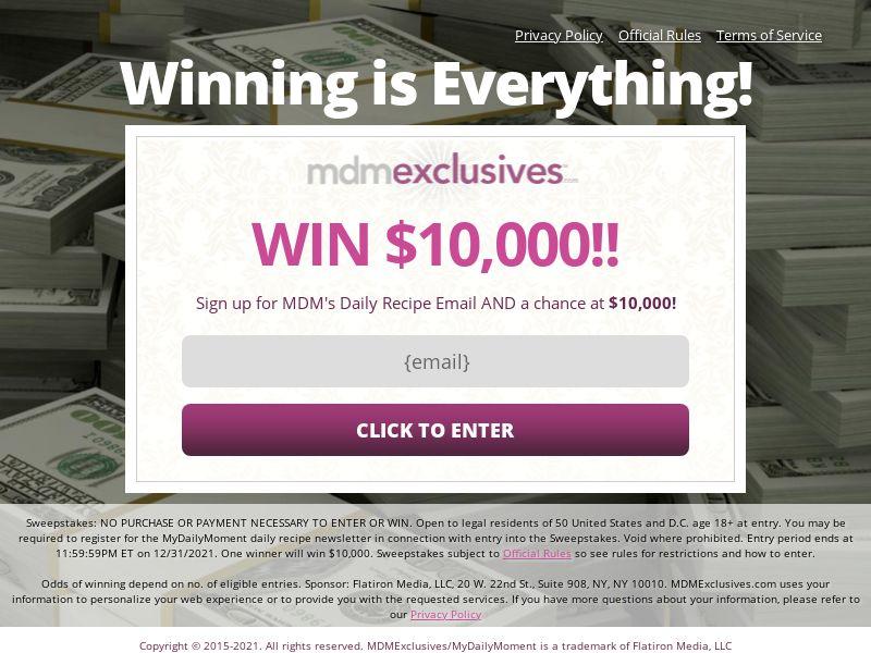 Everyday Winner Sweeps $500 (EW)