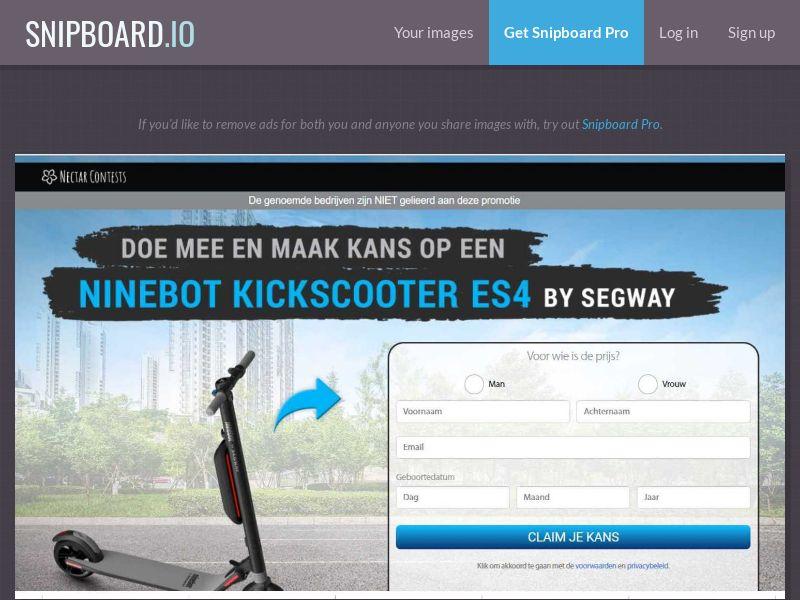 37883 - BE - NectarContests - Segway scooter (dutch) (No Prelander) - SOI