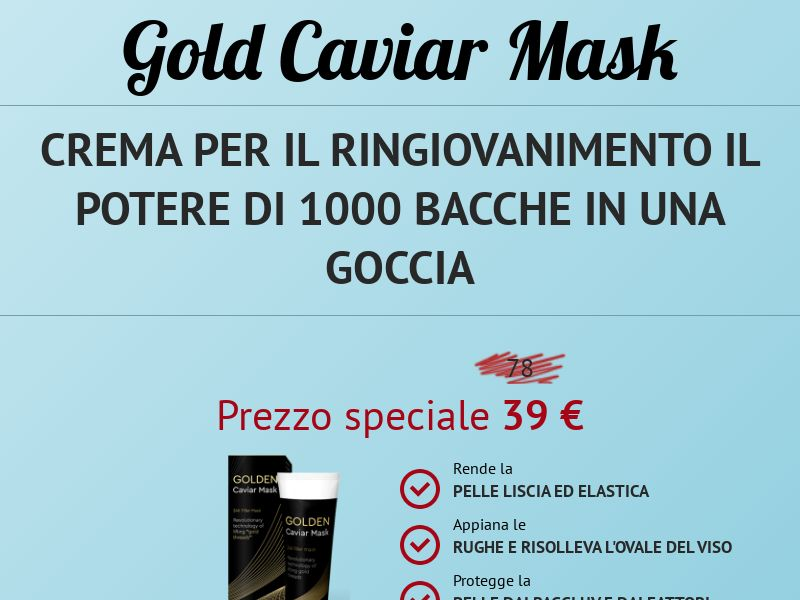 Golden caviar mask - COD - [IT]