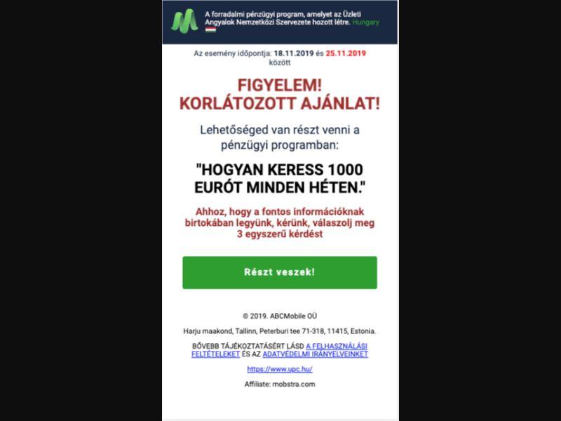 Financial Experiment - Click 2 Call - HU - Finance - Mobile