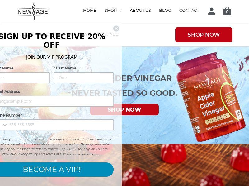 New Age - Apple Cider Vinegar Gummies (PPS) - Health/Nutra - Multi Geo