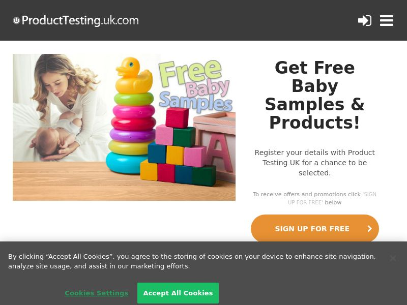 Email Submit - Free Baby Samples - SOI (UK)