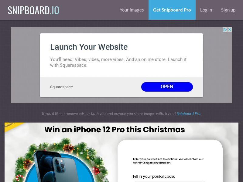 YouSweeps - Win iphone 12 pro christmas AU - SOI