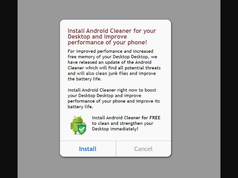 Android Booster Prelanding [AF,BB,CU,EG,GY,LY,SN,TG] - CPI