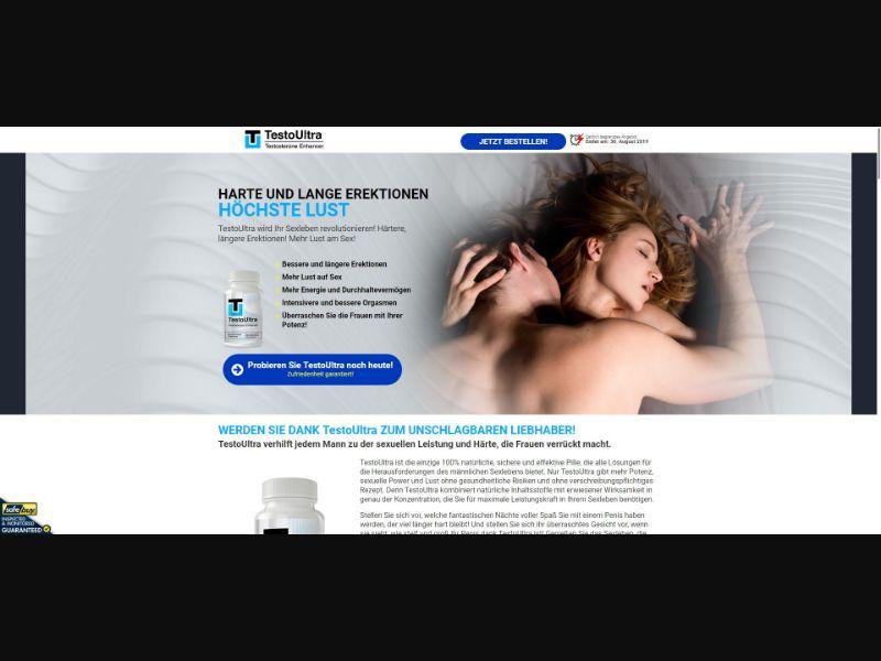 TestoUltra Testosterone Enhancer - Male Enhancement - SS - [CH]