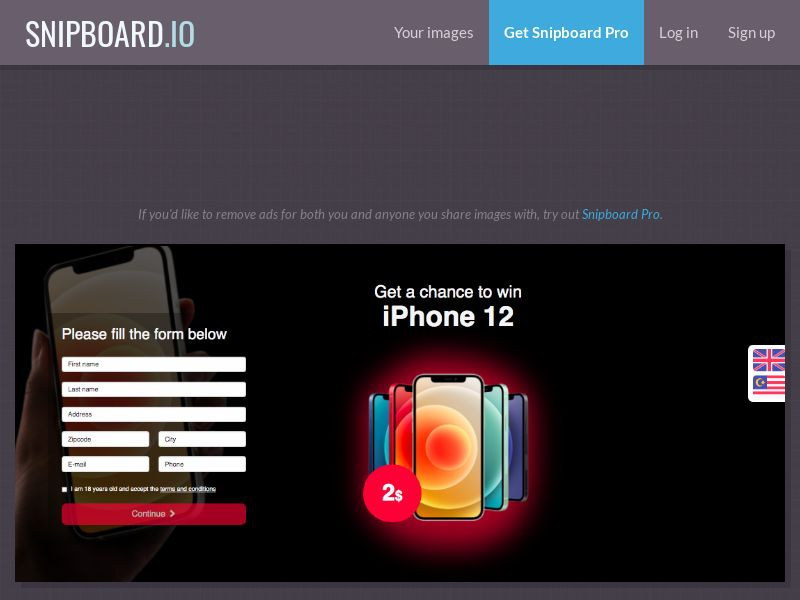 BigEntry - iPhone 12 v1 SG - CC Submit (english/malay)