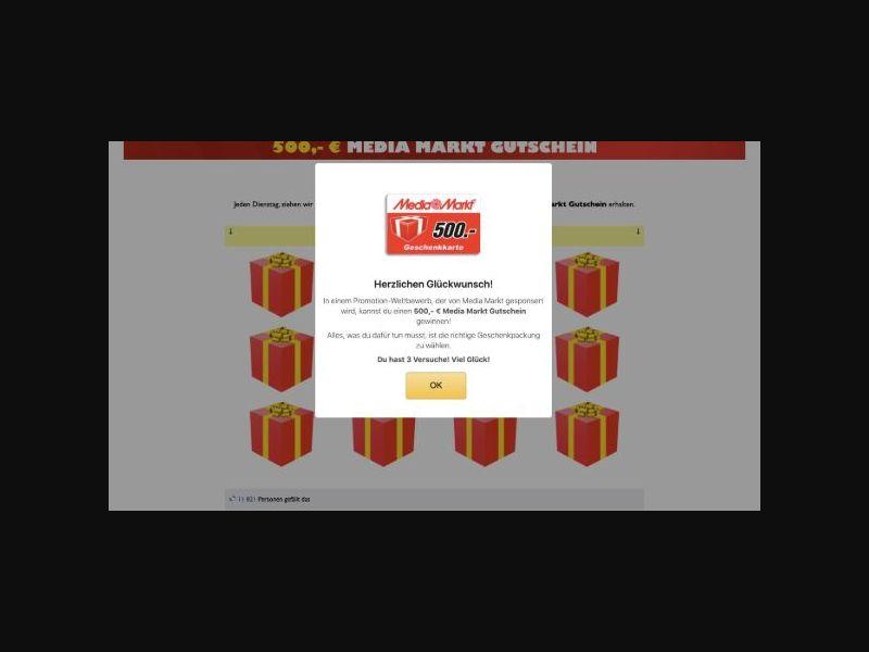 Win a €500 Media Markt Voucher - DOI (DE)