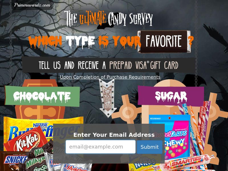Incent - Email Submit Halloween Candy Survey V2 - US