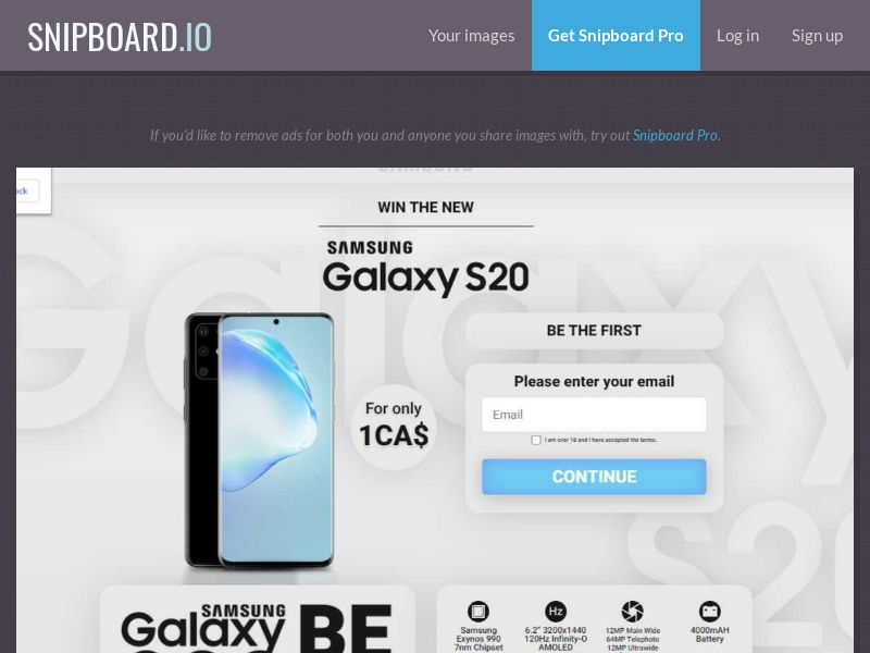 37864 - CA - CreditSupport - Samsung S20 - CC submit