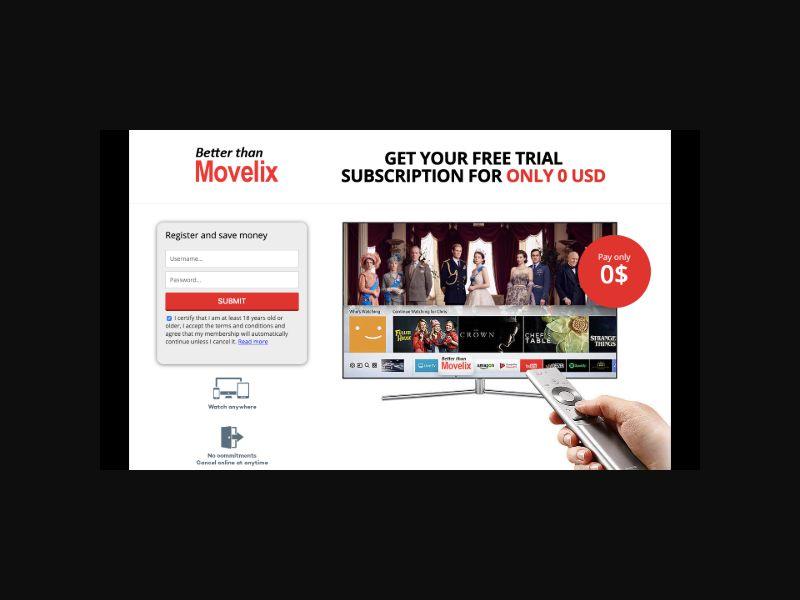 MovieVod (US) CC Trial