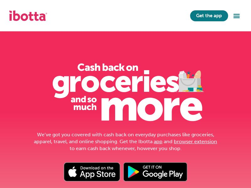 Ibotta - $20 Welcome Bonus - (Display US)