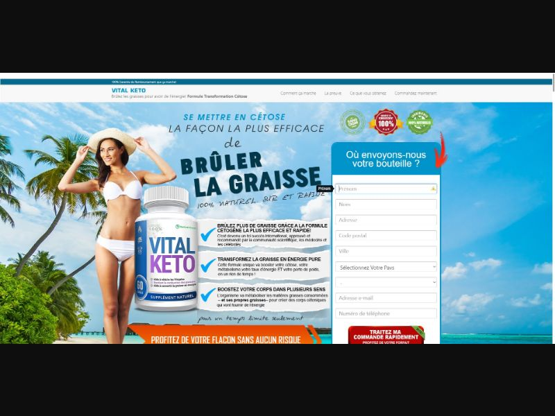 Vital Keto - Diet & Weight Loss - SS - [FR, CH, BE]