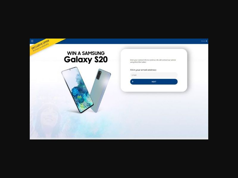 YOUSWEEPS Win a Samsung S20 SOI (UK)