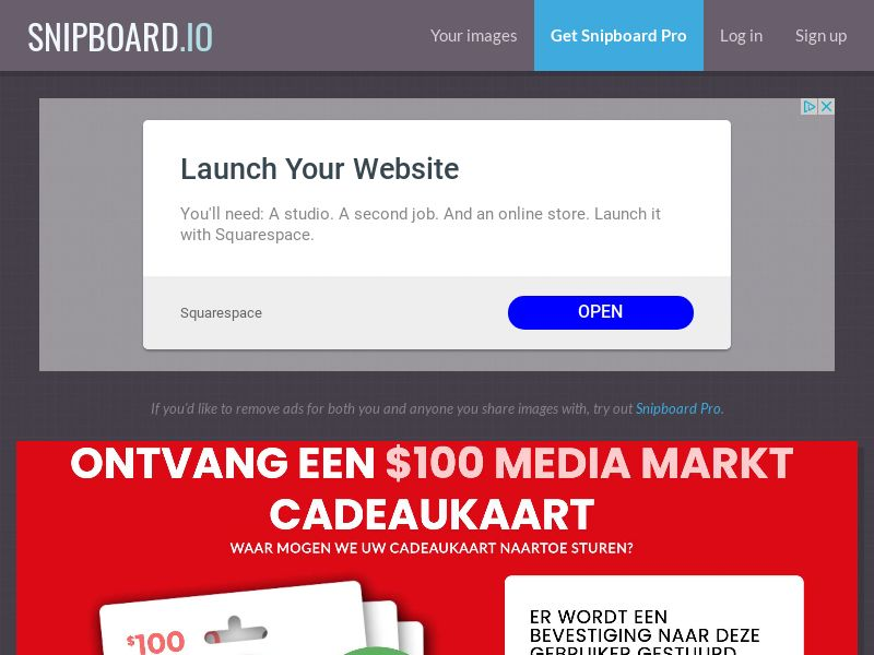 CoreSweeps - Media Markt Giftcard 100 USD NL - CC Submit