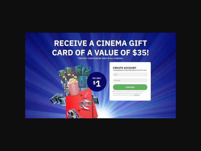 Win a $35 Cinema Giftcard - INTL