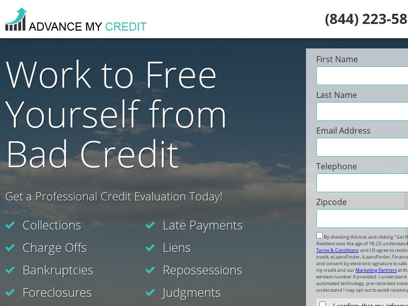 Advance My Credit - First Page - US