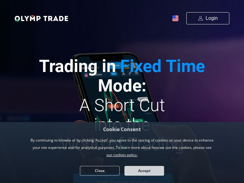 Olymp Trade FTD (Multi-country) SmartLink (mobile traffic -> App)