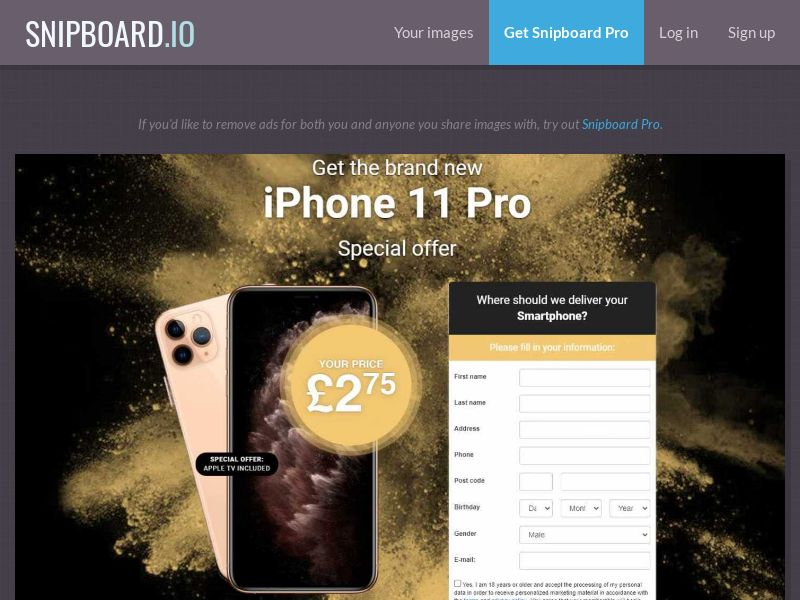 37172 - UK - Lotto24 - iPhone 11 Pro (Gold) - CC submit
