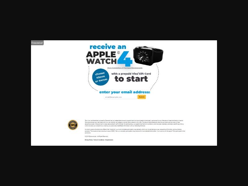 Apple Watch 4 - Email Submit (US)