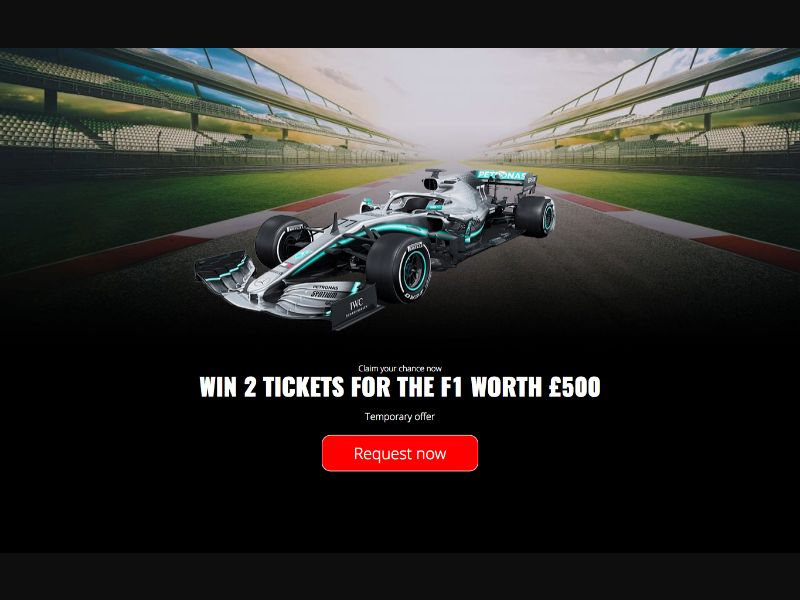Win Tickets to Formula 1 - INCENT - UK