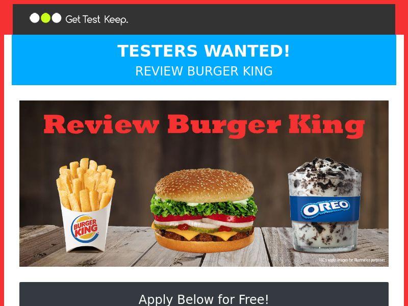 Review Burger King - SOI   UK