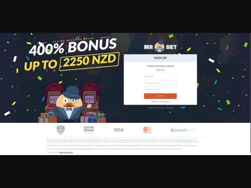 Mr Bet - Casino - SS - [NZ]