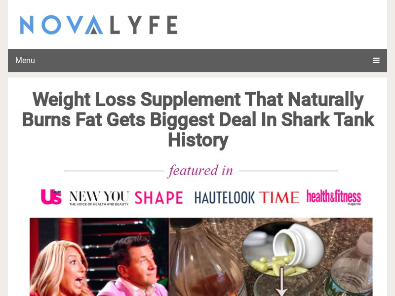 Weight Loss Supplement That Naturally Burns Fat Gets Biggest Deal In Shark Tank History   US