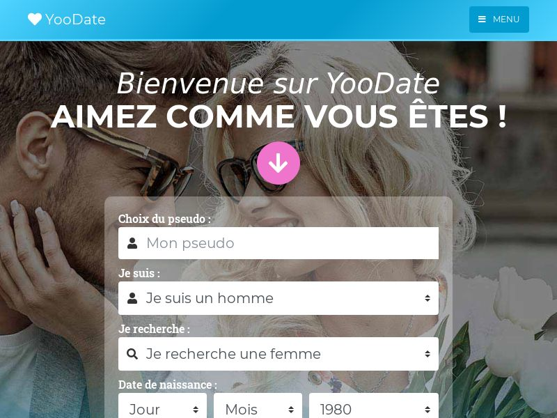 YooDate - FR (FR), [CPL], For Adult, Dating, Content +18, Single Opt-In, women, date, sex, sexy, tinder, flirt